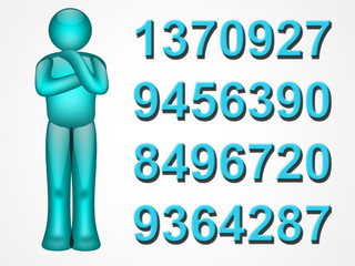 numbers person