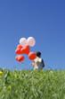 Mädchen mit Luftballons