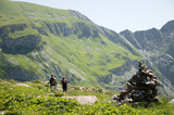 Two women hiking in austrian alps