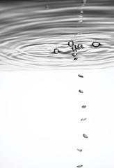 Öltropfen in Wasser, close-up