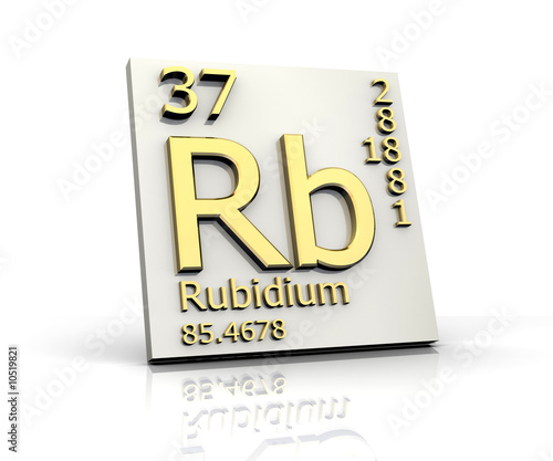 Rubidium form Periodic Table of Elements