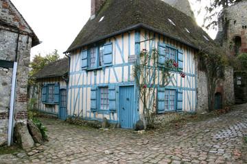 maison bleu Gerberoy
