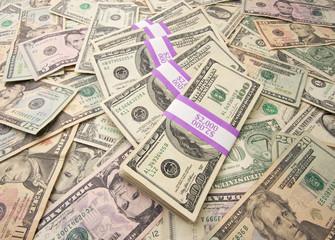 Stacks of Unites States Money Background