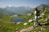 Woman hiking in Austrian alps