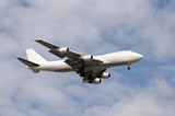Heavy cargo jet airplane delivering freight worlwide poster