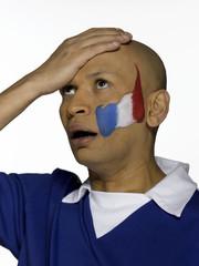 Männlicher französischer Fußballfan