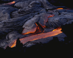 Pahoehoe Lava, Big Island, Hawaii