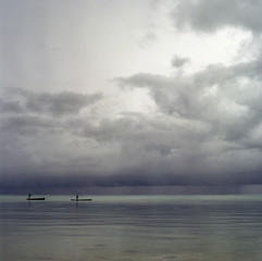Boats on a lake, Tansania, Afrika