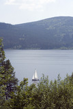 Germany, Black Forest, Boat on Schluchsee