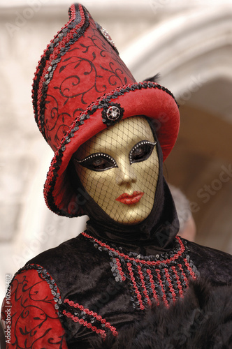 Italy, Venice, masked person
