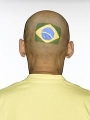 Männlicher brasilianischer Fußballfan
