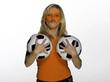 Weiblicher Fußballfan aus den Niederlanden