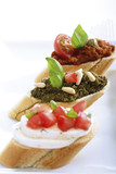 Bruschetta with pesto, italian starters