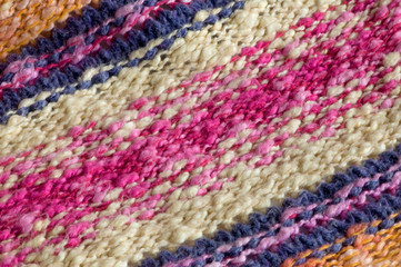 colorful bakground of a rainbow wool pattern