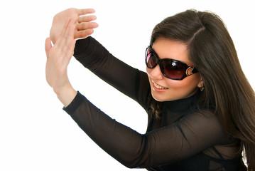 woman in sun glasses