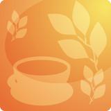 Stylized panel design illustration of tea beverage poster