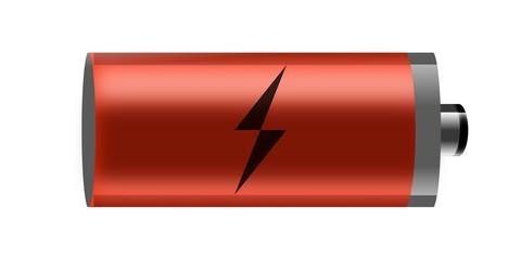 illustration of battery on white background