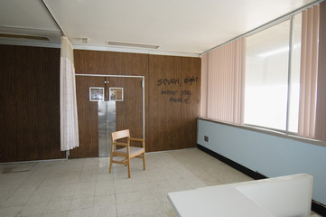 Graffiti on Wall of Hospital Room