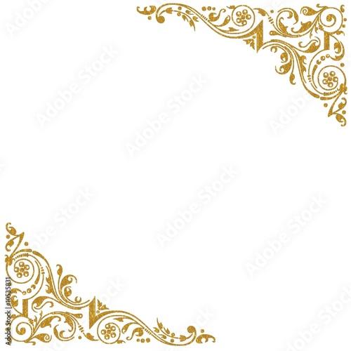 Papier peint coins decoratifs dores contexte for Miroir bordure doree