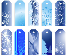 Christmas banners or price tags in vector design