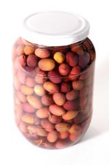 Bocal d'olives de Nice pour cuisiner ou pour l'apéritif