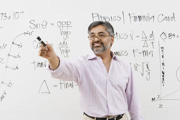 Teacher in Front of Whiteboard