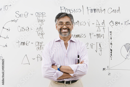 Scientist Standing in Front of Whiteboard