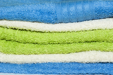 Abstract background with colorful towels