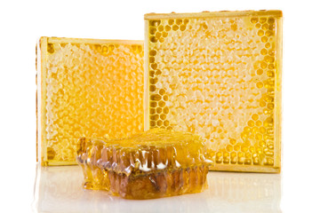 Honeycomb in the wooden frame gorizontal orientation