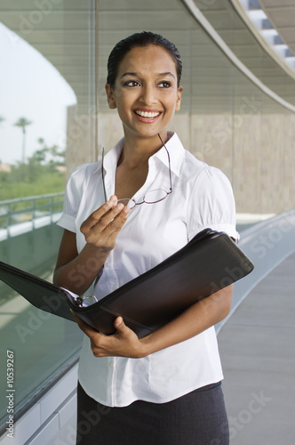 Businesswoman with Daily Organizer