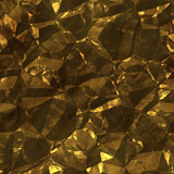 Crystalline mineral and metal shiny faceted ore deposits poster