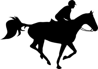 illustration of a horse and jockey