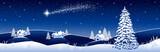 Fototapety Blue winter landscape