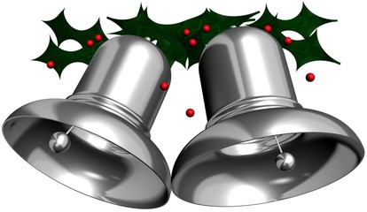 Silver Bells with Mistletoe