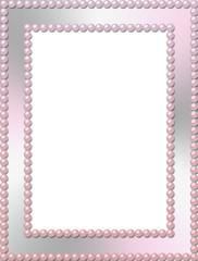 Rectangular paerl frame