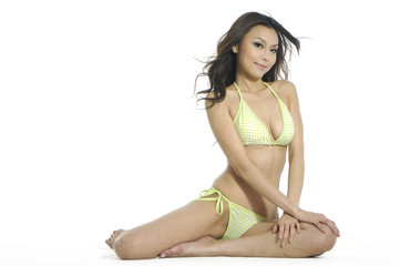 Asain beauty in bikini