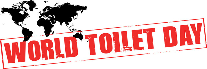 world toilet day rubber stamp