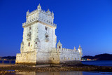 Photo of Belem Tower at night in Lisbon Portugal