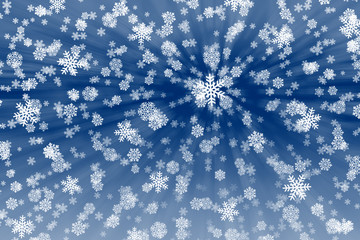 Snow flakes Background.