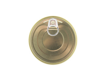 object on white - Tin with canned food