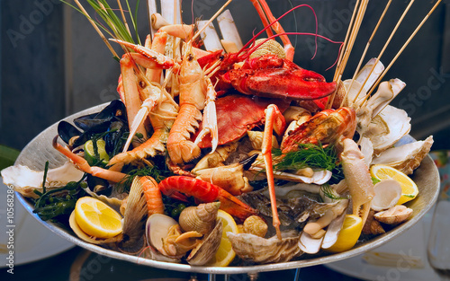 Seafood on the plate - 10568286