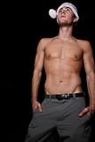 Shirtless man poster