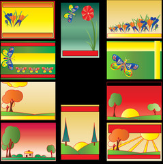 Colourful Business Card Set