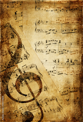Poster Retro vintage musical background
