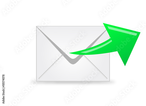 E-mail Icon with Green Arrow