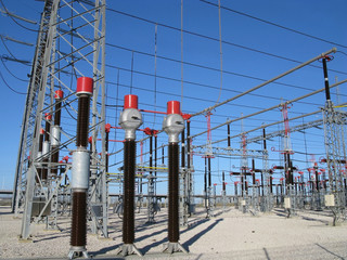 High voltage towers and transformers