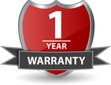 Warranty - One year poster