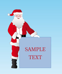 vector christmas santa for different advertisement