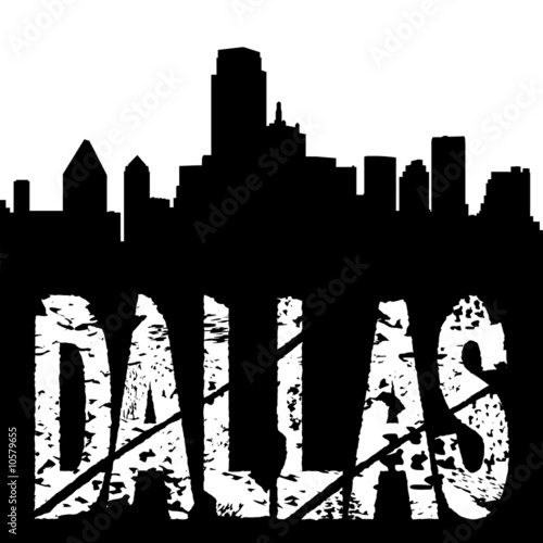 Dallas text with skyline