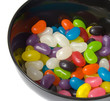 Jelly Beans in Black Bowl